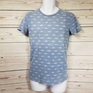 AMERICAN EAGLE Indigo blue classic fit t-shirt XS